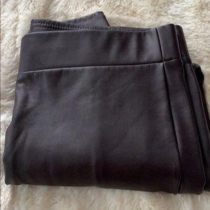 Loft petites leather legging size large